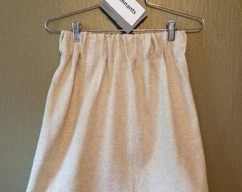 Knit Jersey Skirt, Cream