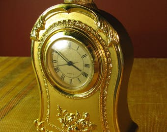 San Francisco Music Box Company Gold Clock music figurine