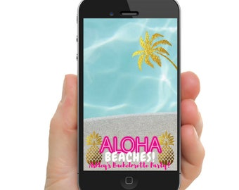 Aloha Beaches Bachelorette Party Snapchat Filter - Birthday Party Filter