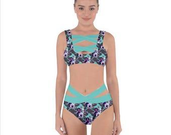 Alexandrite Bandage Bikini Swimsuit - Steven Universe Swimsuit Crystal Gems Swimsuit Fusion Swimsuit Plus Size Swimsuit Oddity Apparel