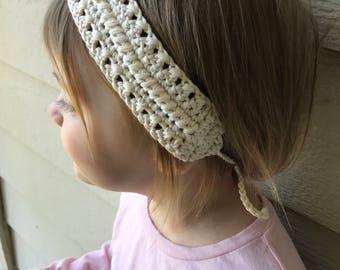 Crochet Tying Headband *Free Shipping* Handmade Hairband