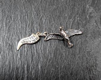 Sterling Silver Seagull Charm | Vintage Bracelet Charm