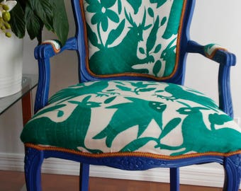 Mexican handmade embroidery Chair