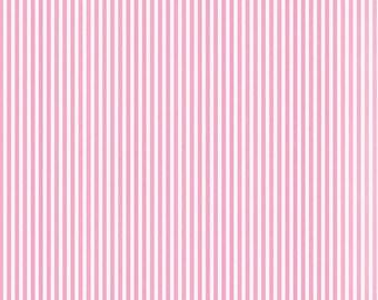 Pink Stripes Fabric by the Yard, 100% Cotton Fabric Girl Fabric Striped Material Striped Fabric Apparel Fabric Half Yard Fabric Riley Blake