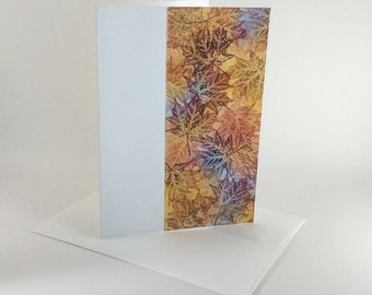 Maple tapestry no. 9 blank card, individually handmade, not a reproduction: A7, notecards, fine cards, SKU BLA71007