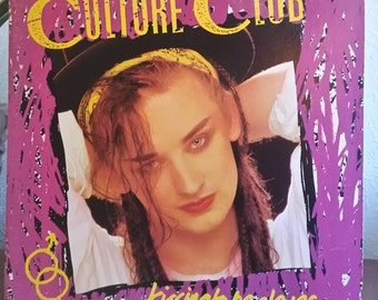 Culture Club Kissing To Be Clever LP (ORIGINAL '82 - gold stamp PROMO copy) featuring Time