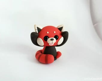 Featured: Lil' Red Panda! | Little Lazies | 1 Miniature Red Panda Polymer Clay Sculpture | Handmade | Thank You!