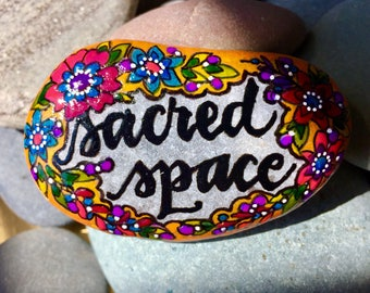 sacred space / painted rocks / painted stones / art for altars /paperweights/ sea stones / cape cod / meditation stones / rock art / stones