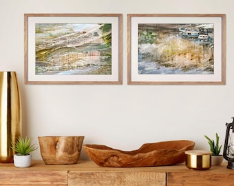 Pastel Fine art photography, Gallery wall art set of 2 prints, Large Abstract artworks, City photography, nutral living room art, Petersburg