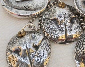 Cat Necklace - Cat Nose Print - Cat Nose Print Necklace - Sterling Silver Necklace - Pet Keepsake Necklace - Pet Lover - Pet Memorial