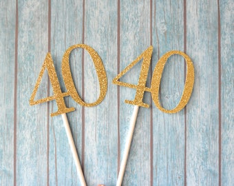 40th Birthday Cupcake Toppers, 40 Cupcake Toppers, Forty Cupcake Toppers, Fortieth Birthday, Forty Birthday Cupcakes, 40th Anniversary
