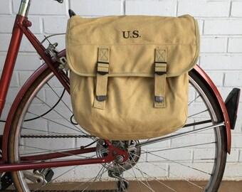 25% OFF Model 1936 U.S. Musette Bag Military Surplus Style Messenger Bag Bicycle Pannier