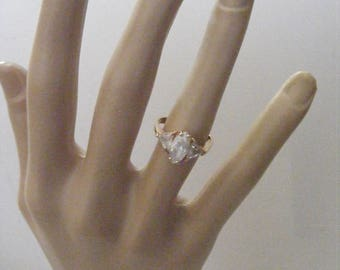 Vintage Marquise CZ Ring