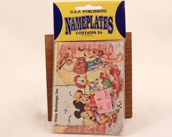 Vintage Disney 1980s Walt Disney Book Nameplates. 24 in Sealed Package