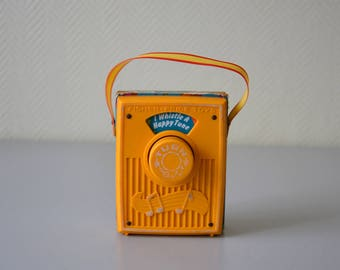 Vintage Fisher Price musical box / I whistle a happy tune / Baby lullaby / original edition from 1977s