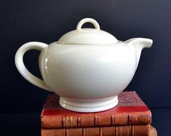 25% SALE Large French Art Deco Ceramic Teapot