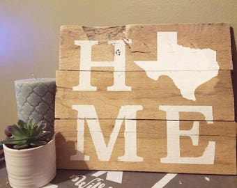 12 x 12 - HOME sign w State Outline