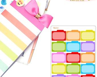 Filing Folders Planner Stickers