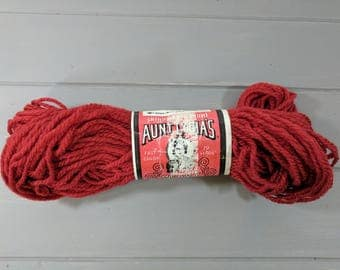 1 Vintage Aunt Lydia's Heavy Rug Yarn Skein, Color 145 Brick, American Thread, Stamford Connecticut