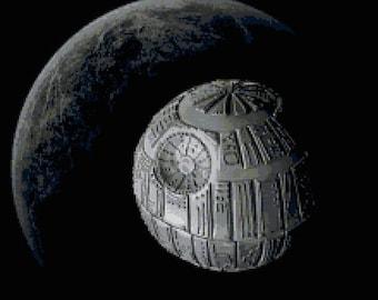 """Death Star Sweet Death Star Wars Cross Stitch Star Wars Pattern kreuzstichvorlagen punto cruz - 12.64"""" x 11.57"""" - L1132"""