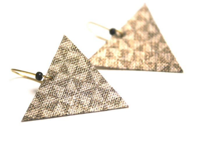 Sleepers gold link Innolin © triangles, triangles print