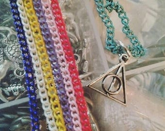 Deathly Hallows Necklace - Harry Potter Necklace - Hogwarts Necklace