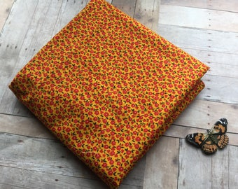 Charming Yellow and Red Calico - 1 Yard - Marcus Brothers