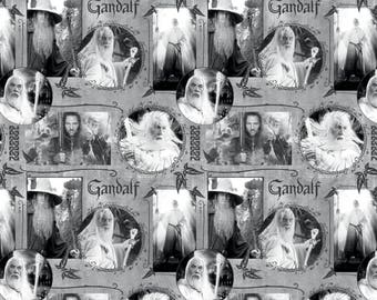 Lord of The Rings Fabric Gray Gandalf Camelot Cotton BTY