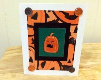 Angry Pumpkin Halloween Card