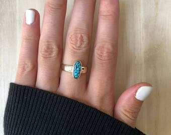 14 kt. Gold Turqoise Ring. Size 6.5