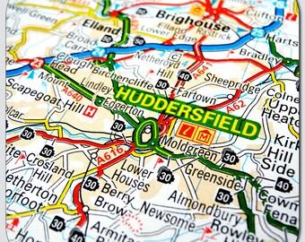 Huddersfield Map Coasters, Magnets, Key Rings & Prints