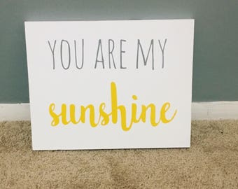 You Are My Sunshine Wood Sign / Nursery Decor / Sunshine Sign / Kids Decor