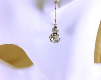 Eglantine wedding earrings / Wedding earrings Crystal