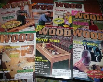 Vintage Wood Magazines 1995 Issues