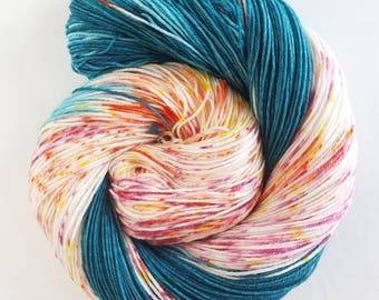 Mega Flounce, Hand Painted Indie Dyed Yarn