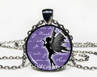 Fairy-Glass Pendant Necklace/Graduation gift/mothers day/girl gift/Easter gift/Gift for her/girlfriend gift/friend gift/birthday gift