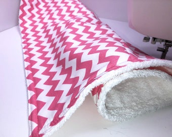 Pink Chevron Drying Mat, Drain Mat, Dish Mat, Camper Dishes Kitchen Dish Mat, Dish Towel Drying Mat, Tea Towel