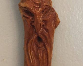 Wood Spirit Carving/Tree Spirit Carving/Rustic Folk Art