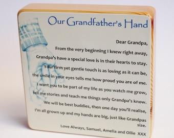 My Grandfathers/Pops/Gaga's Hand Poem Block