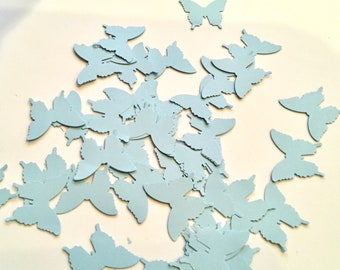Blue confetti butterflies 300 hand punched small paper