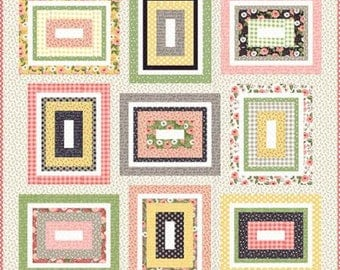 "Kith and Kin Quilt Pattern Farmers Daughter by By Vanessa Goertzen of Lella Boutique for Moda- Finished Quilt Size 74.5"" x 74.5"""