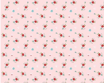 FLANNEL 1 Yard Little Red Riding Hood by Tasha Noel for Riley Blake Designs- F3275 Pink Little Floral