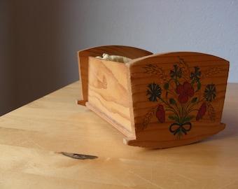 Vintage dollhouse cradle