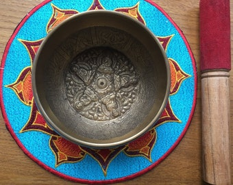 Tibetan Five Buddha Singing Bowl
