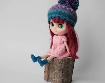 Socks for 6 inch doll, Middie blythe socks, Hand knitted miniature socks, Puki Fee socks, Knitted doll socks, Blythe knit clothes, miniature