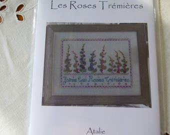 """Atalie """"Les Roses information"""" cross stitch card"""