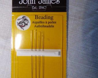 4 John James needles beads fine n13