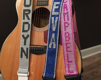 Personalized Guitar Strap (Letters Add On)