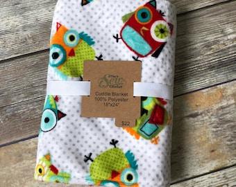 Owl Minky Cuddle Blanket
