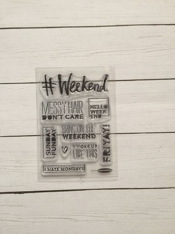 9 Piece Weekend Clear Stamps. Clear Stamps for Planning/Scrapbooking. Weekend Planner Clips. Word Stamps. FriYay Planner